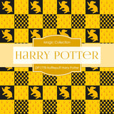 Hufflepuff Harry Potter Digital Paper DP1778 - Digital Paper Shop - 3