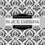 Black Damask Digital Paper DP1267 - Digital Paper Shop - 3