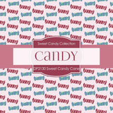 Sweet Candy Cane Digital Paper DP2130