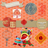 Lunar New Year Digital Paper DP2338 - Digital Paper Shop - 5