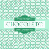 Chocolate Mint Digital Paper DP1251 - Digital Paper Shop - 3
