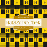 Hufflepuff Harry Potter Digital Paper DP1778 - Digital Paper Shop - 4