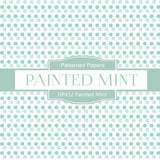 Painted Mint Digital Paper DP432 - Digital Paper Shop - 4