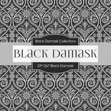 Black Damask Digital Paper DP1267 - Digital Paper Shop - 4