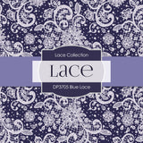 Blue Lace Digital Paper DP3705 - Digital Paper Shop - 3