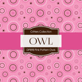 Pink Pattern Owls Digital Paper DP898A - Digital Paper Shop - 4