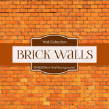 Brick Wall Backgrounds Digital Paper DP4052 - Digital Paper Shop - 4