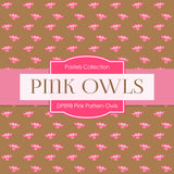 Pink Pattern Owls Digital Paper DP898 - Digital Paper Shop - 4