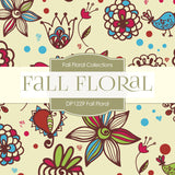 Fall Floral Digital Paper DP1229 - Digital Paper Shop - 4
