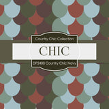 Country Chick Navy Digital Paper DP2400 - Digital Paper Shop - 4