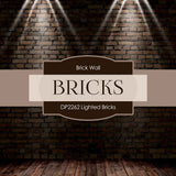 Lighted Bricks Digital Paper DP2262 - Digital Paper Shop - 4