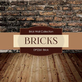 Brick Backgrounds Digital Paper DP2261A - Digital Paper Shop - 4