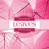 Pink Leaves Digital Paper DP674 - Digital Paper Shop - 4