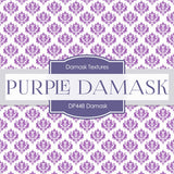 Purple Damask Digital Paper DP448 - Digital Paper Shop - 5
