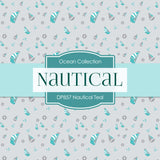 Nautical Teal Digital Paper DP857 - Digital Paper Shop - 4