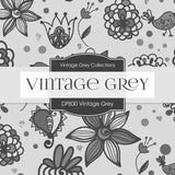 Vintage Gray Digital Paper DP830 - Digital Paper Shop - 4
