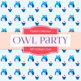 Bright Owls Party Digital Paper DP110 - Digital Paper Shop - 4