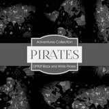 Black and White Pirates Digital Paper DP909 - Digital Paper Shop - 4