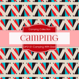 Camping With Dad Digital Paper DP2121 - Digital Paper Shop - 4