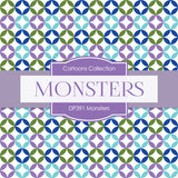 Monsters Digital Paper DP391 - Digital Paper Shop - 4