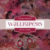 Vintage Wallpapers Digital Paper DP710 - Digital Paper Shop - 4