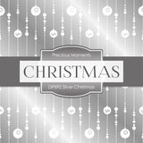 Silver Christmas Digital Paper DP892A - Digital Paper Shop - 4