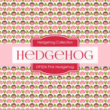 Pink Hedgehog Digital Paper DP204 - Digital Paper Shop - 4