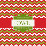 Christmas Owl Digital Paper DP5000 - Digital Paper Shop - 4
