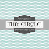 Tiny Circle Outline Digital Paper DP6198B
