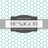 Hexagon Outline Medium Digital Paper DP6269A