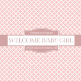 Welcome Baby Girl Digital Paper DP429 - Digital Paper Shop - 2