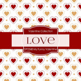 My Funny Valentine Digital Paper DP2348 - Digital Paper Shop - 2