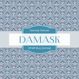 Blue Damask Digital Paper DP449 - Digital Paper Shop - 2
