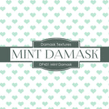 Minty Damask Digital Paper DP431 - Digital Paper Shop - 3