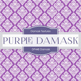 Purple Damask Digital Paper DP448 - Digital Paper Shop - 2