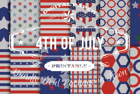 Digital Papers - 4th of July Bundle Deal - Digital Paper Shop