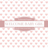 Welcome Baby Girl Digital Paper DP429 - Digital Paper Shop - 3