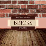 Brick Backgrounds Digital Paper DP2261A - Digital Paper Shop - 3