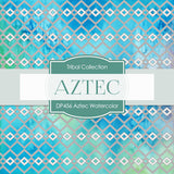 Aztec Watercolor Digital Paper DP456 - Digital Paper Shop - 4