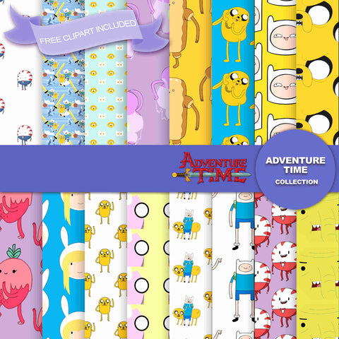 Adventure Time Digital Paper DP2582A - Digital Paper Shop - 1