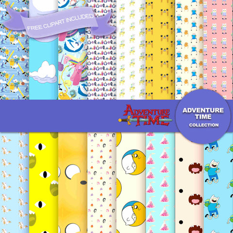 Adventure Time Digital Paper DP2582C - Digital Paper Shop - 1