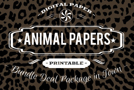Digital Papers - Animal Prints Bundle Deal - Digital Paper Shop