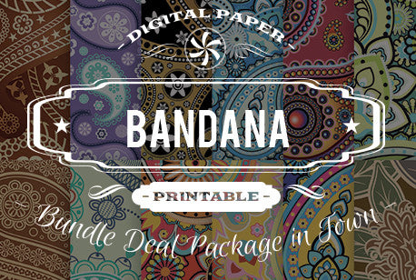 Digital Papers - Bandana Papers Bundle Deal - Digital Paper Shop