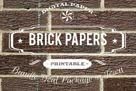 Digital Papers - Brick Papers Bundle Deal - Digital Paper Shop