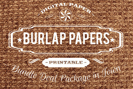 Digital Papers - Burlap Papers Bundle Deal - Digital Paper Shop