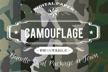 Digital Papers - Camouflage Papers Bundle Deal - Digital Paper Shop
