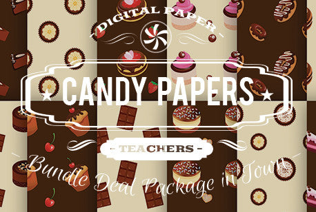 Digital Papers - Candy Papers Bundle Deal - Digital Paper Shop