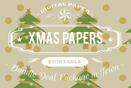 Digital Papers - Christmas Papers Bundle Deal - Digital Paper Shop