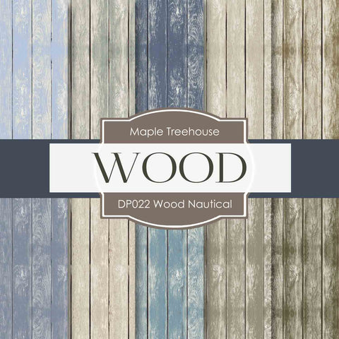 Wood Nautical Digital Paper DP022 - Digital Paper Shop - 1