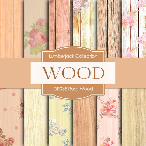 Rose Wood Digital Paper DP035 - Digital Paper Shop - 1